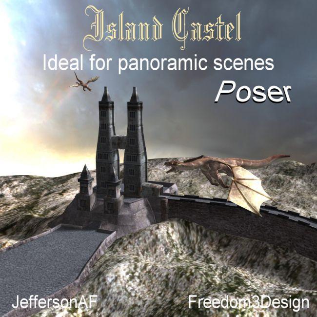 Island Castle for Poser
