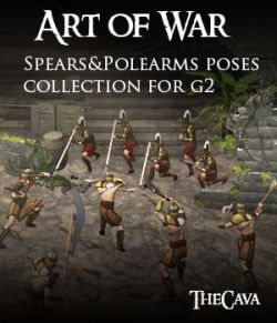 Art of War- The Ultimate Spears&Polearms Poses for Genesis2