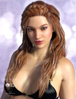 Sienna Hair for Genesis 3 Female(s) and Genesis 2 Female(s)