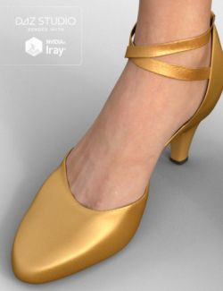 Milonga Shoes for Genesis 3 Female(s)