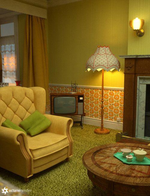 The cosy kitsch living room props 3d models for poser for Living room 2 for daz studio