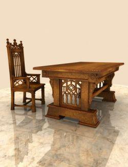 Gothic Desk & Chair