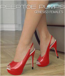 Peeptoe Pumps for Genesis 3 Females