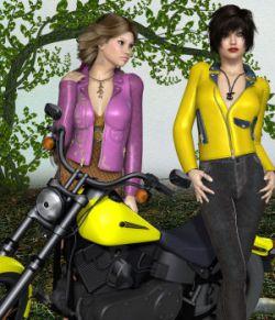 DA-BikerGirl for Exnem Leather Jacket