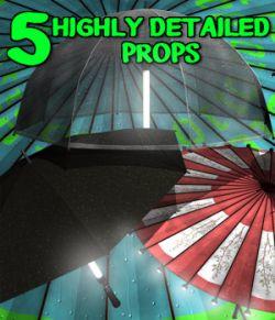 Cyberpunk Neon Umbrellas