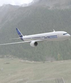 Airbus A-350-900 (3ds and obj)