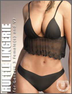 Ruffle Lingerie for Genesis 3 Female(s)