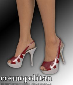 COSMOPOLITAN - Peeptoe Pumps for Genesis 3 Females