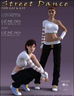 Street Dance for Genesis 3 Female(s) and Genesis 2 Females(s)