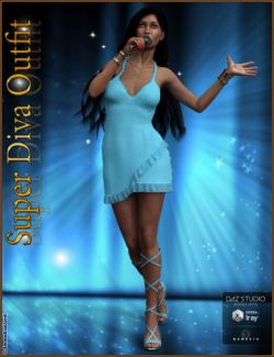 Super Diva Outfit And Accessories for Genesis 3 Female(s)