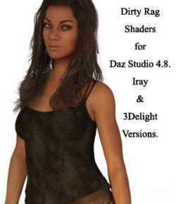 Dirty Rag Shaders For Daz Studio 4.8 (Merchant Resource)