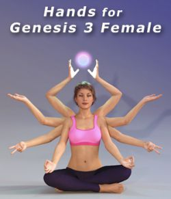 Hands for Genesis 3 Female