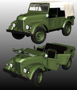 GAZ69 COMMAND CAR (Poser and .obj )