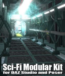 SciFi Modular Kit for DAZ Studio and Poser - EXTENDED LICENCE