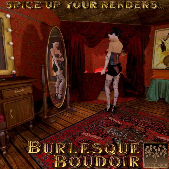 Burlesque Boudoir Architecture For Poser And Daz Studio