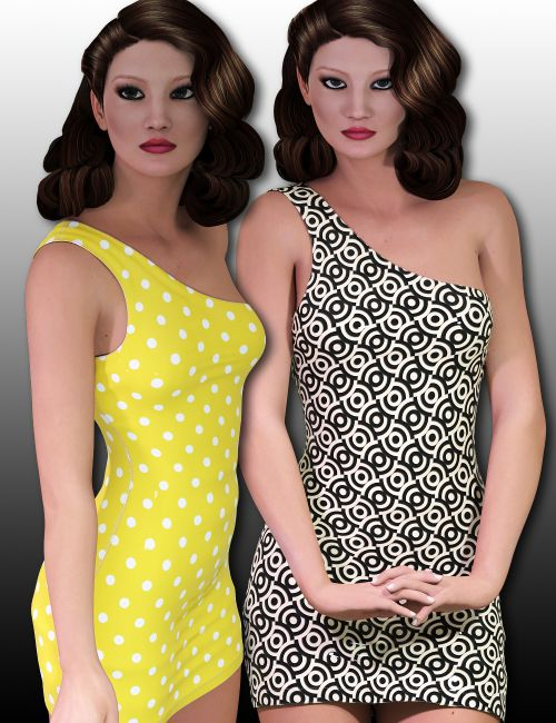 InStyle - Fashion Blizz - One Shoulder Dress for Genesis 2 Female(s)