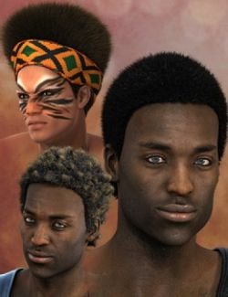 Nuru Hair for Genesis 2 Male(s)