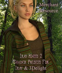 Iray Knit Shaders 2 - Merchant Resource For Iray and 3Delight