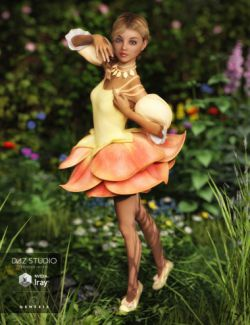 Rose Fairy Outfit for Genesis 3 Female(s)