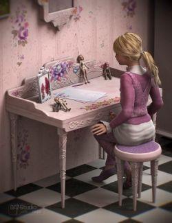 Pink Oak Desk