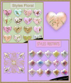 Pack styles abstrait et floral