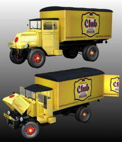 MACK AC 1937 DELIVERY ( Poser and .obj )