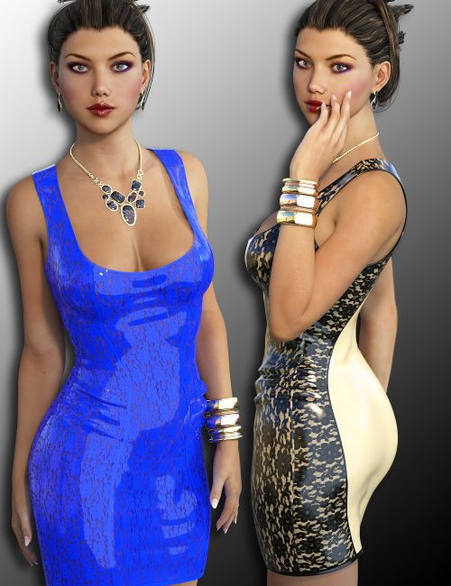 InStyle - 2Tone Dress for Genesis 3 Female(s)