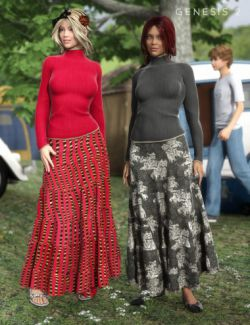 Hippie Chick Outfit Textures