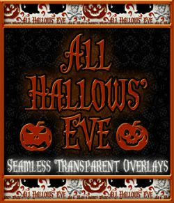 Design Resource: All Hallows' Eve Seamless Transparent Overlays