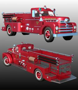 SEAGRAVE 1955 ( Poser and .obj )