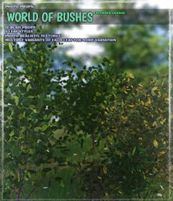 Photo Plants: World of Bushes- Extended License