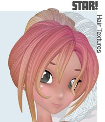 Fairytale Hair Textures for Star Hairs - Poser Only