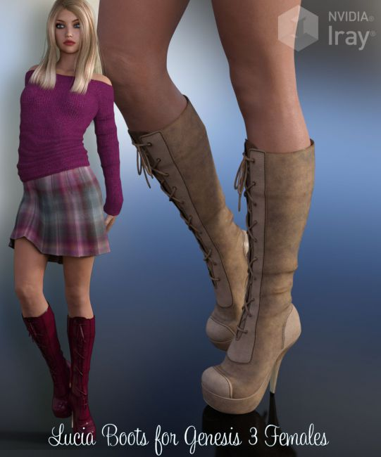 Lucia Boots for Genesis 3 Female