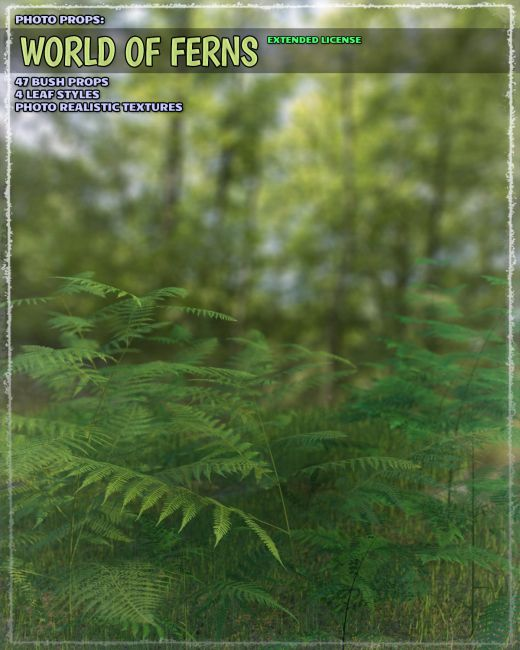 Photo Plants: World of Ferns - Extended License