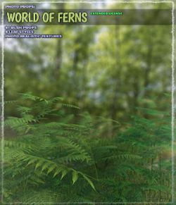 Photo Plants: World of Ferns- Extended License