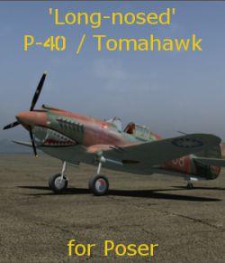 'Long-nosed' P-40 Tomahawk for Poser