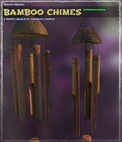 Photo Props: Bamboo Chimes- Extended License