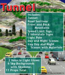 Freeway Tunnel Road Set