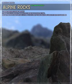 Photo Props: Alpine Rocks- Extended License