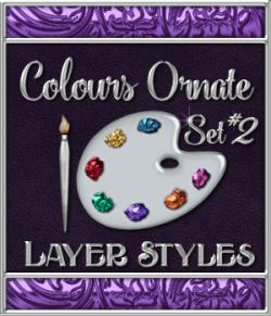 Bling! Colours Ornate Set #2 Layer Styles