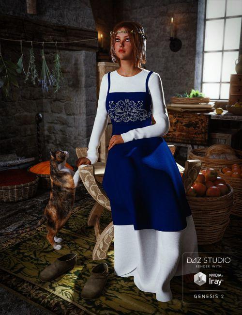 Peasant Dress for Genesis 2 Female(s)