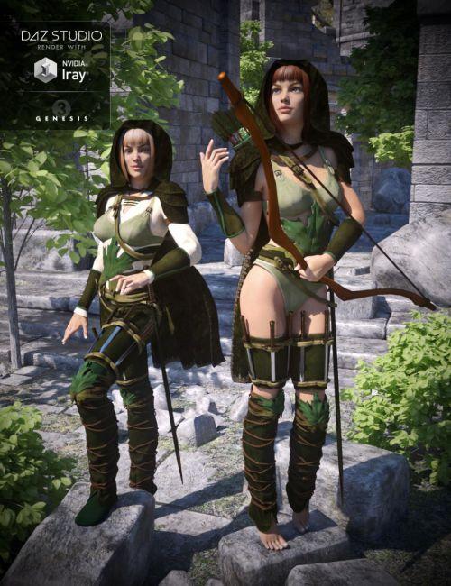 Fantasy Ranger for Genesis 3 Female(s) | 3D Models for ...