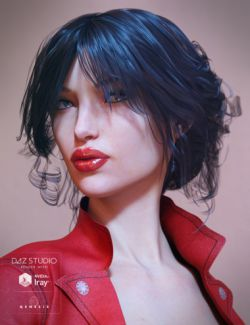 Selena Hair for Genesis 3 Female(s)