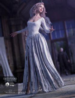 Ghost Bride Dress for Genesis 3 Female(s)