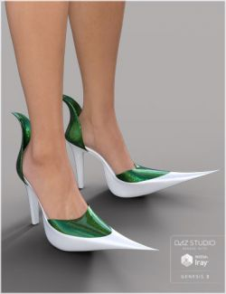 Witch Heels for Genesis 2 and 3 Female(s)