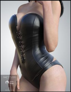 Leather Bustier for Genesis 3 Female(s)