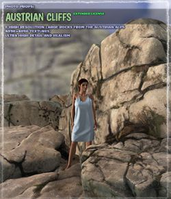 Photo Props: Austrian Cliffs- Extended License