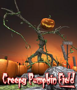 Creepy Pumpkin Field