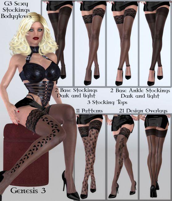 B#1-G3 SexyStockings Bodyglove Kit