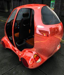 Futuristic Compact Car
